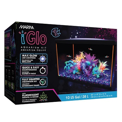 MARINA iGLO 10 GALLON AQUARIUM KIT
