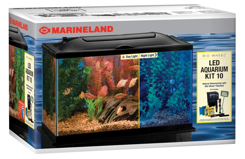 MARINELAND 10 GAL BIO-WHEEL LED AQUARIUM SET
