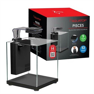 AQUATOP PISCES 5 GALLON NANO CUBE AQUARIUM SET