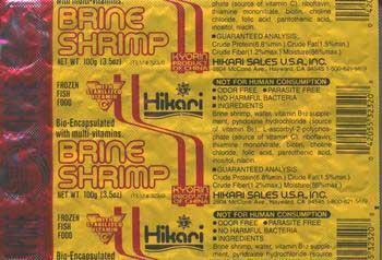 HIKARI FROZEN BRINE SHRIMP CUBES, 3.5OZ.