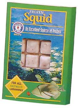 SAN FRANCISCO BAY BRAND FROZEN SQUID CUBES, 3.5OZ