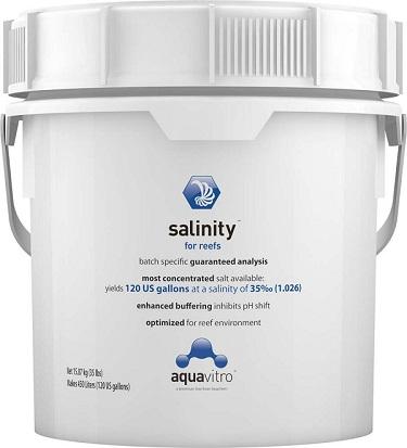 AQUAVITRO SALINITY/ REEF 120 GAL
