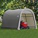 Shelter 10x10x8 St Shed Rnd Grey