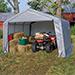 Shelter 12x12x8 Shed Peak Grey