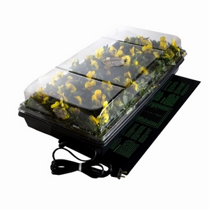 """Hydrofarm Germination Station with Heat Mat, tray, 72 cell pack, 2"""" dome"""