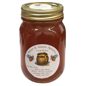 Sweet & Simple Apiaries Honey - 1pt