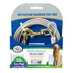 Four Paws Heavy Weight Tie Out Cable Silver - 10ft