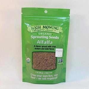 Organic Sprouting Alfalfa Seed - 3oz