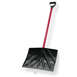 Truper Poly Snow Shovel D-grip - 18in