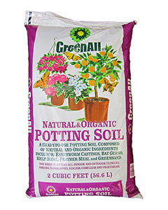 Greenall natural organic potting soil 2 cf for Bulk organic soil