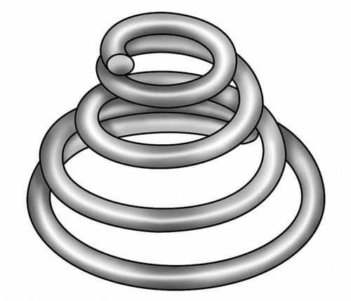 Ajax Springs 12 Double Cone Compression Spring – Galvanized Hard Drawn