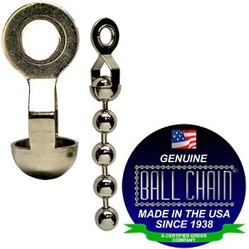 BALL CHAIN RING CPLG 6-AD NICKEL
