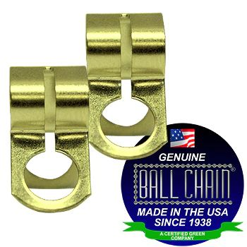 BALL CHAIN CLAMP CPLG 6-D BRASS