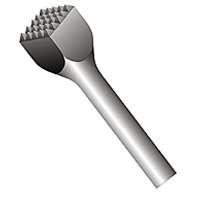 Bosch HS1809 1-3/4 In. x 9-1/4 In. 16 Tooth Bushing Tool Round Hex/Spline Hammer Steel