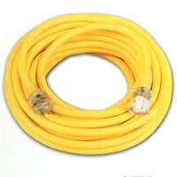 Coleman Cable 02588 12/3 Vinyl Outdoor Extension Cord with Lighted End, 50-Feet