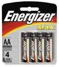 Energizer Max AA Batteries, 4-Count