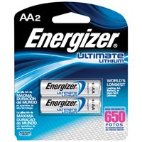 Energizer AA Lithium Batteries, 2-Pack