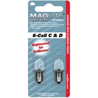 Maglite LWSA601 Replacement Lamp for 6-C Cell/D-Cell Flashlight, White Star Krypton