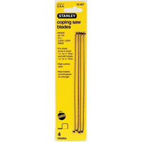 Stanley 15-058 10 Tpi Coping Saw Blade, 4-Pack