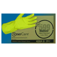 LG  18mil YEL LINED LATEX GLOVES