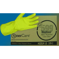 XL 18mil YEL LINED LATEX GLOVES