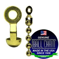 BALL CHAIN RING CPLG 10-AD BRASS