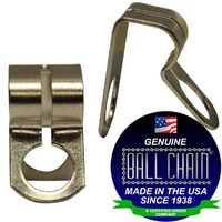 BALL CHAIN CLAMP CPLG 6-D NICKEL