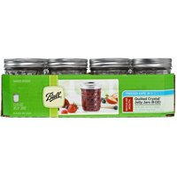 Ball Mason Jars with Lids and Bands, 8-Ounce, Quilted, Set of 12