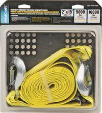 """TOW STRAP 2"""" X 15' W/HKS 5000# M"""