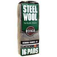 STEEL WOOL PAD #2 MEDIUM COARSE