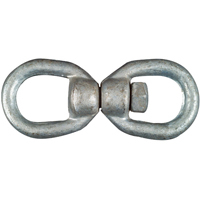 "National N241-117 1/2""Galvanized Swivel Eye and Eye Open Link"