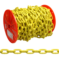 1/4 YELLOW POLY COATED CHAIN