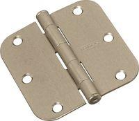 National 512R5/8 Series N830-242 Door Hinge, 3-1/2 in, Cold Rolled Steel, Satin Nickel