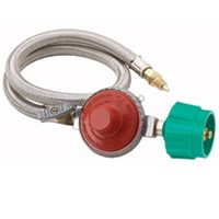 Bayou Classic Stainless Braided Hose / Regulator Assembly
