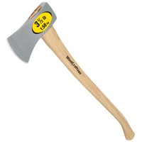 Mintcraft 32913 Single Bit Michigan Axe, Hickory Handle, 35-Inch, 3-1/2-Pound