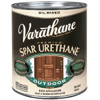 Rust-Oleum Varathane 9441H 1-Quart Classic Clear Oil Based Outdoor Spar Urethane, Gloss Finish
