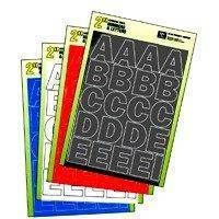 """Duro Decal Permanent Adhesive Vinyl Letters & Numbers: 2"""" Gothic Black"""