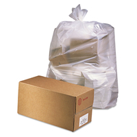 CAN LINER LLDPE 38X65 CLEAR 50/C