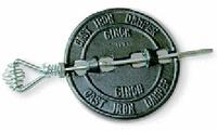 "STOVE PIPE DAMPER CAST IRON 5"""
