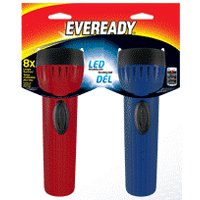 FLASHLIGHT LED ECON W/BATT 2PK