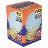 LAMP 40W 40G25/W WHITE GLOBE
