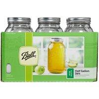 Ball Mason Jars, 1/2-Gallon, 6-Pack