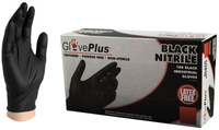 L NITRILE PF 5mil GLOVES BLACK