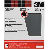 3M Wetordry Between Finish Coats Sanding Sheets, 320A-Grit, 9-Inch by 11-Inch