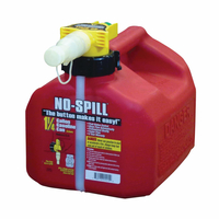 GAS CAN 1.5GL RED PL NO-SPILL