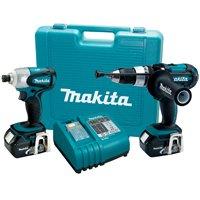 Makita LXT218 18-Volt LXT Lithium-Ion Cordless 2-Piece Combo Kit