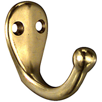 National V1962 Coat/Hat Hooks - Solid Brass in Solid Brass
