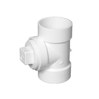 "PVC DWV CLEAN-OUT TEE W/PLUG 8"""
