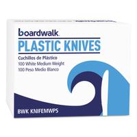 PLASTIC KNIFE BX/100 WHT MED WGH