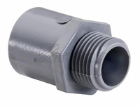 PVC CONDUIT MALE CONNECTOR 1/2""